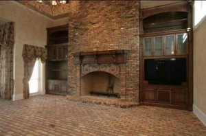 Brick Fireplace and floor